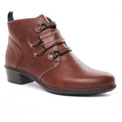 boots-fourrees marron: même style de chaussures en ligne pour femmes que les Rieker