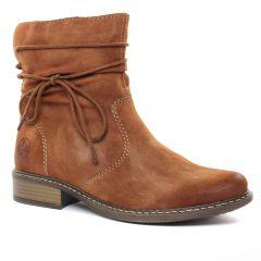 boots marron: même style de chaussures en ligne pour femmes que les Rieker