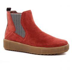 boots-chelsea rouge brique: même style de chaussures en ligne pour femmes que les Scarlatine