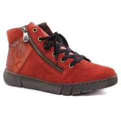 baskets-fourrees rouge brique: même style de chaussures en ligne pour femmes que les Remonte