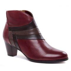 boots-talon bordeaux: même style de chaussures en ligne pour femmes que les Regarde Le Ciel