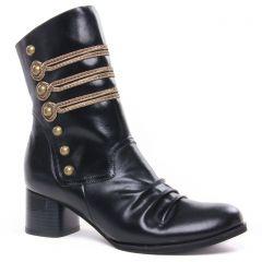 boots-talon noir or: même style de chaussures en ligne pour femmes que les Scarlatine