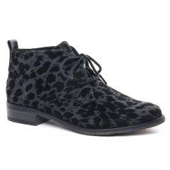 bottines-a-lacets gris foncé: même style de chaussures en ligne pour femmes que les Tamaris