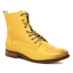 Chaussures femme hiver 2020 - bottines à lacets tamaris jaune
