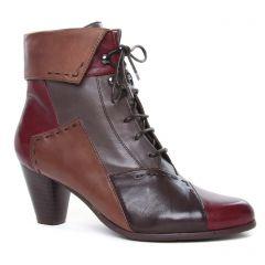 Chaussures femme hiver 2020 - bottines à lacets Regarde le ciel marron bordeaux