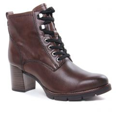 Chaussures femme hiver 2020 - bottines à lacets tamaris marron