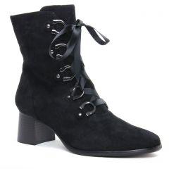 bottines-a-lacets noir: même style de chaussures en ligne pour femmes que les Rieker