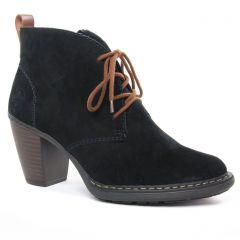 Chaussures femme hiver 2020 - bottines à lacets rieker noir