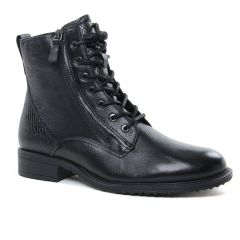 Chaussures femme hiver 2020 - bottines à lacets tamaris noir