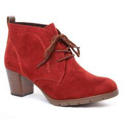 bottines-a-lacets rouge: même style de chaussures en ligne pour femmes que les Marco Tozzi