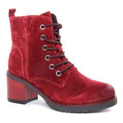 bottines-a-lacets rouge: même style de chaussures en ligne pour femmes que les Tamaris