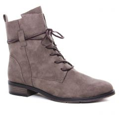 Chaussures femme hiver 2020 - bottines à lacets marco tozzi taupe