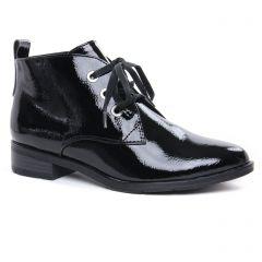 bottines-a-lacets vernis noir: même style de chaussures en ligne pour femmes que les Marco Tozzi