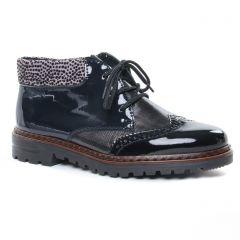 bottines-a-lacets vernis noir: même style de chaussures en ligne pour femmes que les Rieker