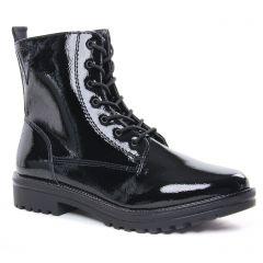 Chaussures femme hiver 2020 - bottines à lacets tamaris vernis noir