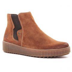 bottines-fourrees marron: même style de chaussures en ligne pour femmes que les Rieker