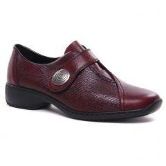 derbys bordeaux: même style de chaussures en ligne pour femmes que les Rieker
