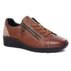 derbys-talons-compenses marron: même style de chaussures en ligne pour femmes que les Rieker
