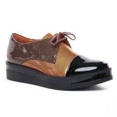 derbys marron noir: même style de chaussures en ligne pour femmes que les Tamaris