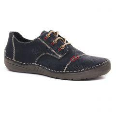 Chaussures femme hiver 2020 - derbys rieker noir