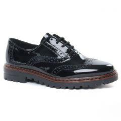 derbys vernis noir: même style de chaussures en ligne pour femmes que les Rieker
