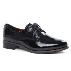 derbys vernis noir: même style de chaussures en ligne pour femmes que les Tamaris
