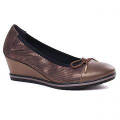 ballerines-talons-compenses marron bronze: même style de chaussures en ligne pour femmes que les Tamaris