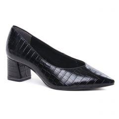 escarpins-confort noir croco: même style de chaussures en ligne pour femmes que les Tamaris