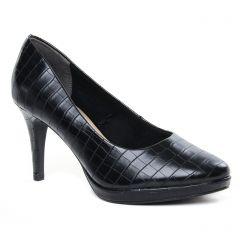 escarpins noir croco: même style de chaussures en ligne pour femmes que les Tamaris