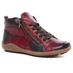 baskets-fourrees bordeaux: même style de chaussures en ligne pour femmes que les Remonte