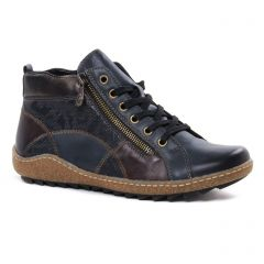 Chaussures femme hiver 2020 - low boots Remonte bleu marine