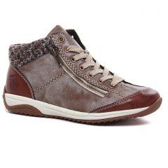 baskets-fourrees marron beige: même style de chaussures en ligne pour femmes que les Rieker