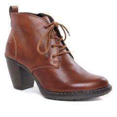 bottines-a-lacets marron: même style de chaussures en ligne pour femmes que les Rieker