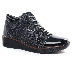bottines-a-lacets noir gris: même style de chaussures en ligne pour femmes que les Tamaris