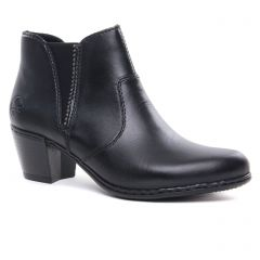 Chaussures femme hiver 2020 - boots élastiquées rieker noir