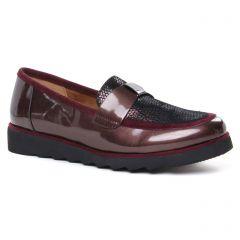 mocassins-confort bordeaux: même style de chaussures en ligne pour femmes que les Regarde Le Ciel