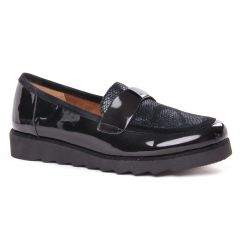 mocassins-confort noir vernis: même style de chaussures en ligne pour femmes que les Rieker
