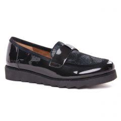 Chaussures femme hiver 2020 - mocassins confort Sweet noir vernis