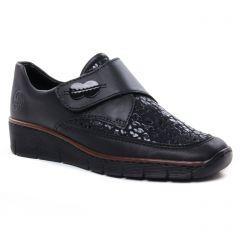 mocassins-slippers noir: même style de chaussures en ligne pour femmes que les Rieker