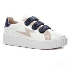 Chaussures femme hiver 2020 - tennis Vanessa Wu blanc bleu