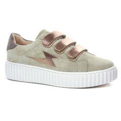 tennis vert kaki: même style de chaussures en ligne pour femmes que les Vanessa Wu