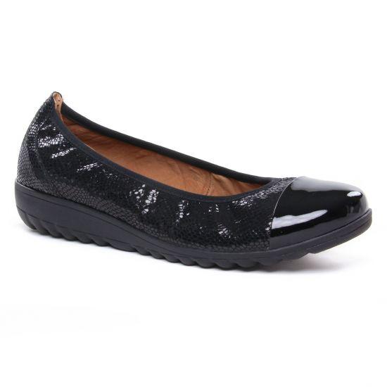Ballerines Caprice 22103 Black Rep Comb, vue principale de la chaussure femme
