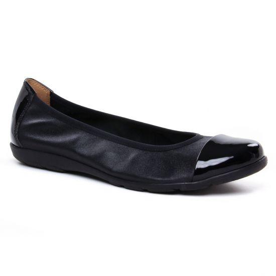 Ballerines Caprice 22152 Black Comb, vue principale de la chaussure femme