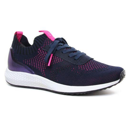 Tennis Et Baskets Mode Tamaris 23714 Navy Magenta, vue principale de la chaussure femme