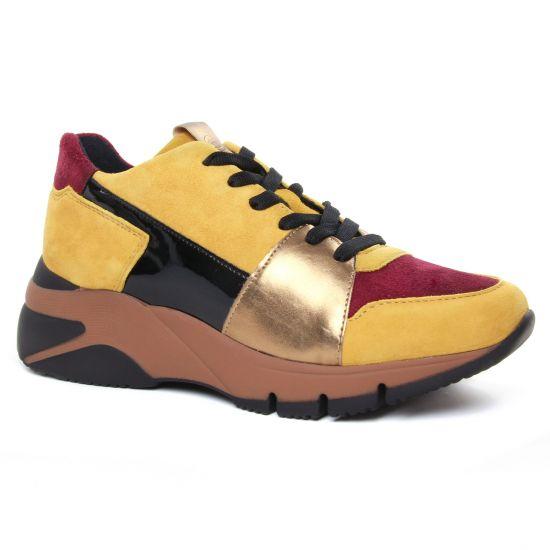 Tennis Et Baskets Mode Tamaris 23765 Mustard Comb, vue principale de la chaussure femme