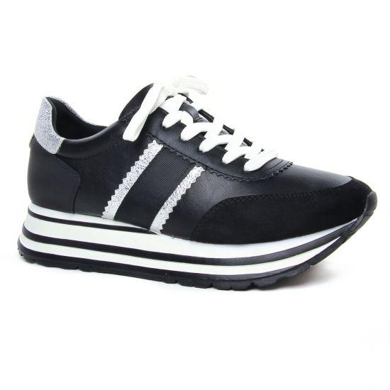 Tennis Et Baskets Mode Tamaris 23737 Black Silver, vue principale de la chaussure femme