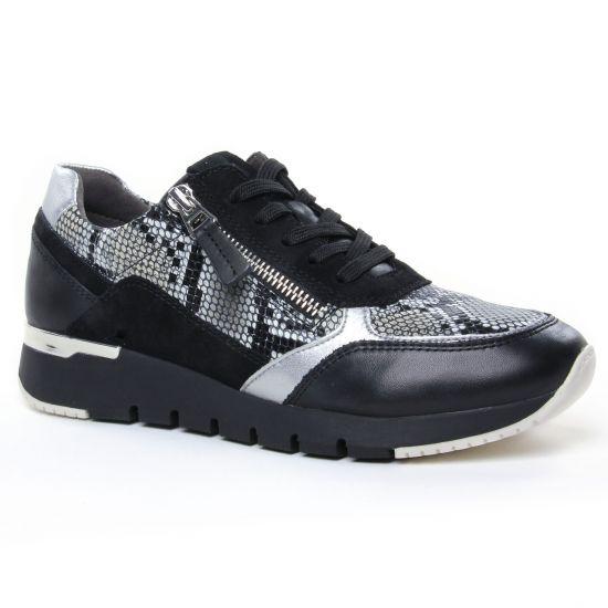 Tennis Et Baskets Mode Caprice 23706 Black Boa Comb, vue principale de la chaussure femme