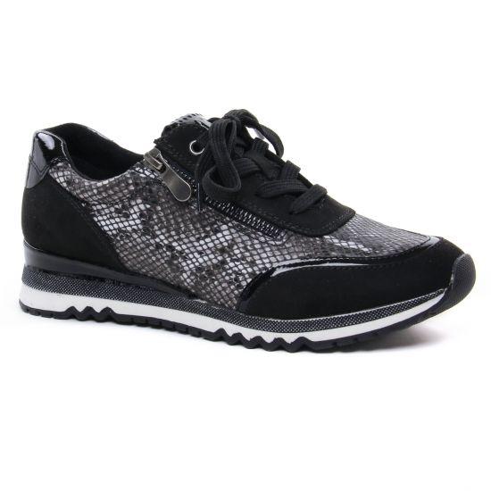 Tennis Et Baskets Mode Marco Tozzi 23713 Black Comb, vue principale de la chaussure femme