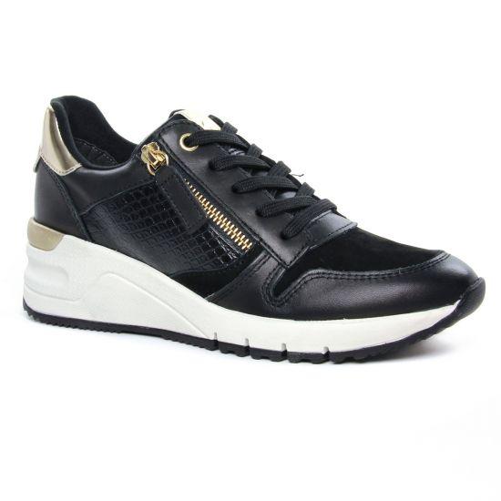 Tennis Et Baskets Mode Tamaris 23702 Black Gold, vue principale de la chaussure femme