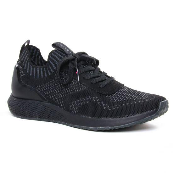 Tennis Et Baskets Mode Tamaris 23714 Black Dk Grey, vue principale de la chaussure femme